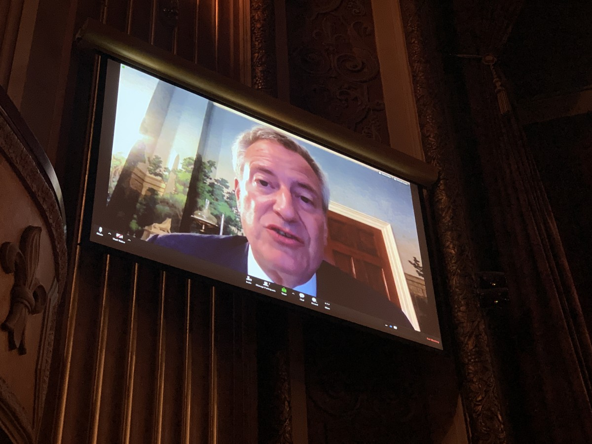 Mayor Bill de Blasio live-streamed with the Frank LaMere Native American Presidential Forum.
