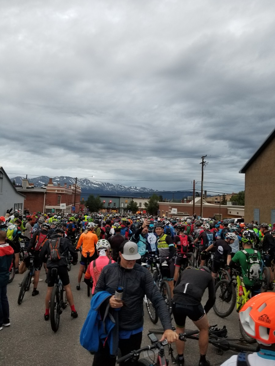 (Photo of the starting line at the Leadville 101 from Randy John Jr.'s position. Photo by Randy John Jr.)