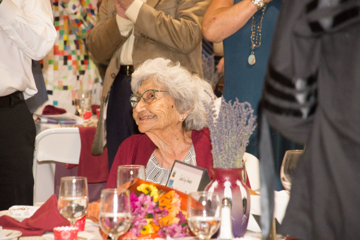 Pictured: Dr. Virginia Beavert, Yakama Nation, recipient of The Museum At Warm Springs Lifetime Achievement Award at the Huckleberry Harvest Celebration and Honor Dinner at the High Desert Museum in Bend, Oregon on Saturday, August 17, 2019.