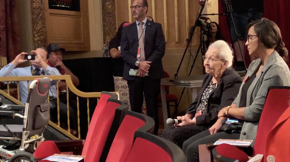 """Marcella LaBeau, 99-year-old World World II veteran, asked the first question to presidential candidates. She asked Marianne Williamson if she would support the """"Remove the Stain Act."""""""