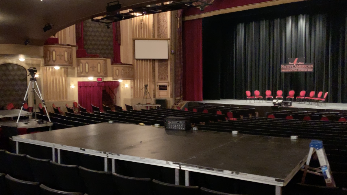 An empty theatre. The day before the storm.