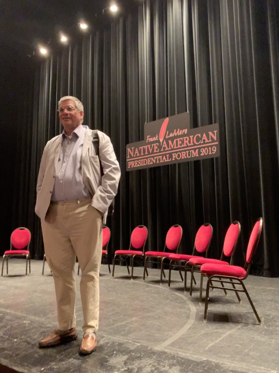 Indian Country Today Editor Mark Trahant moderated the Frank LaMere Native American Presidential Forum.