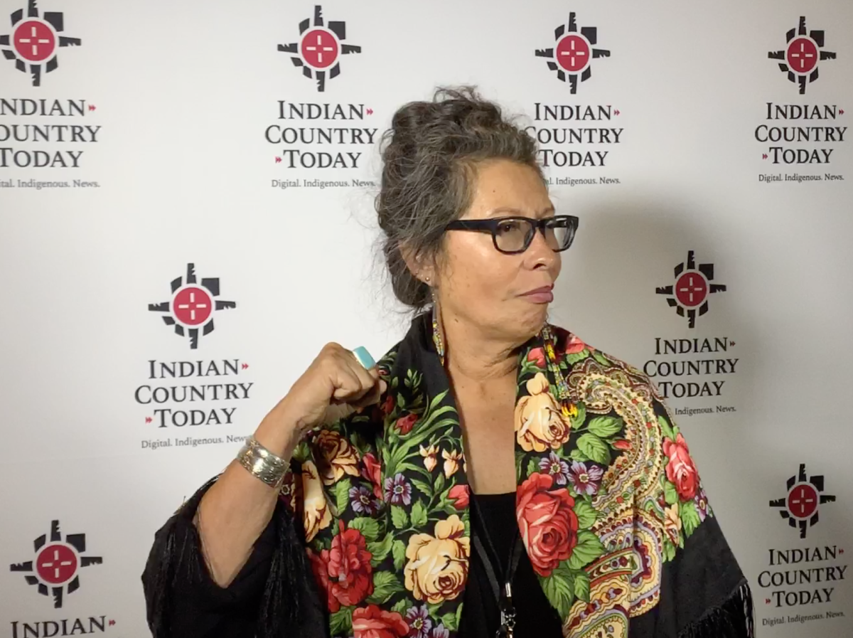 Judith LeBlanc, director of the Native Organizers Alliance, stands for photos on the eve of the forum.
