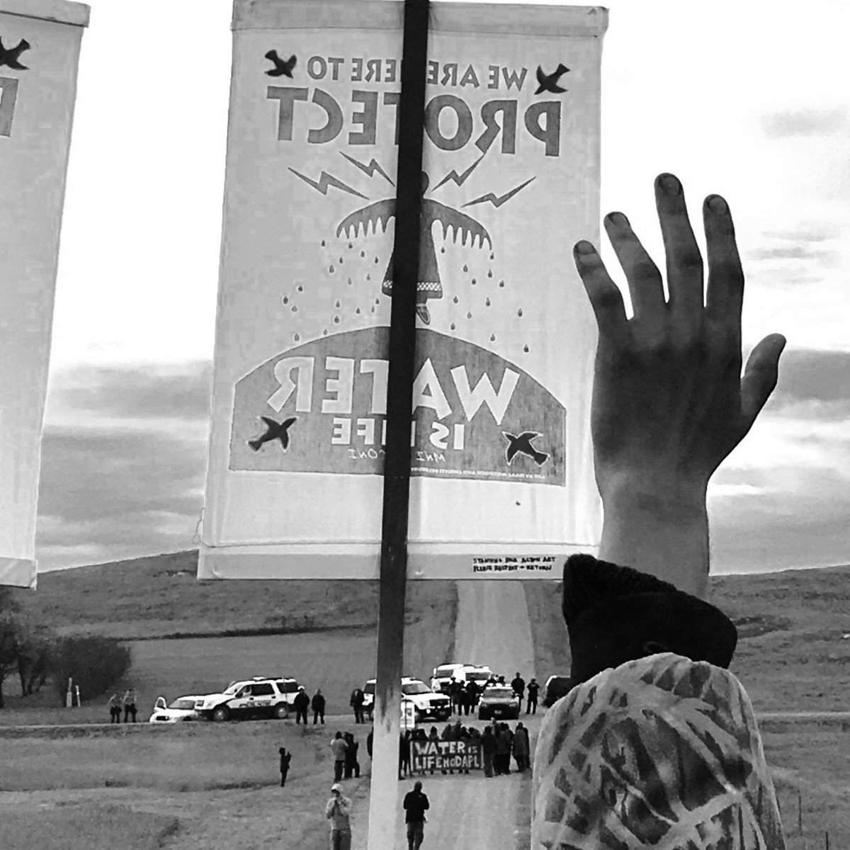 """""""Water Protector,"""" photographed by Nick Estes, the co-editor of Standing with Standing Rock."""