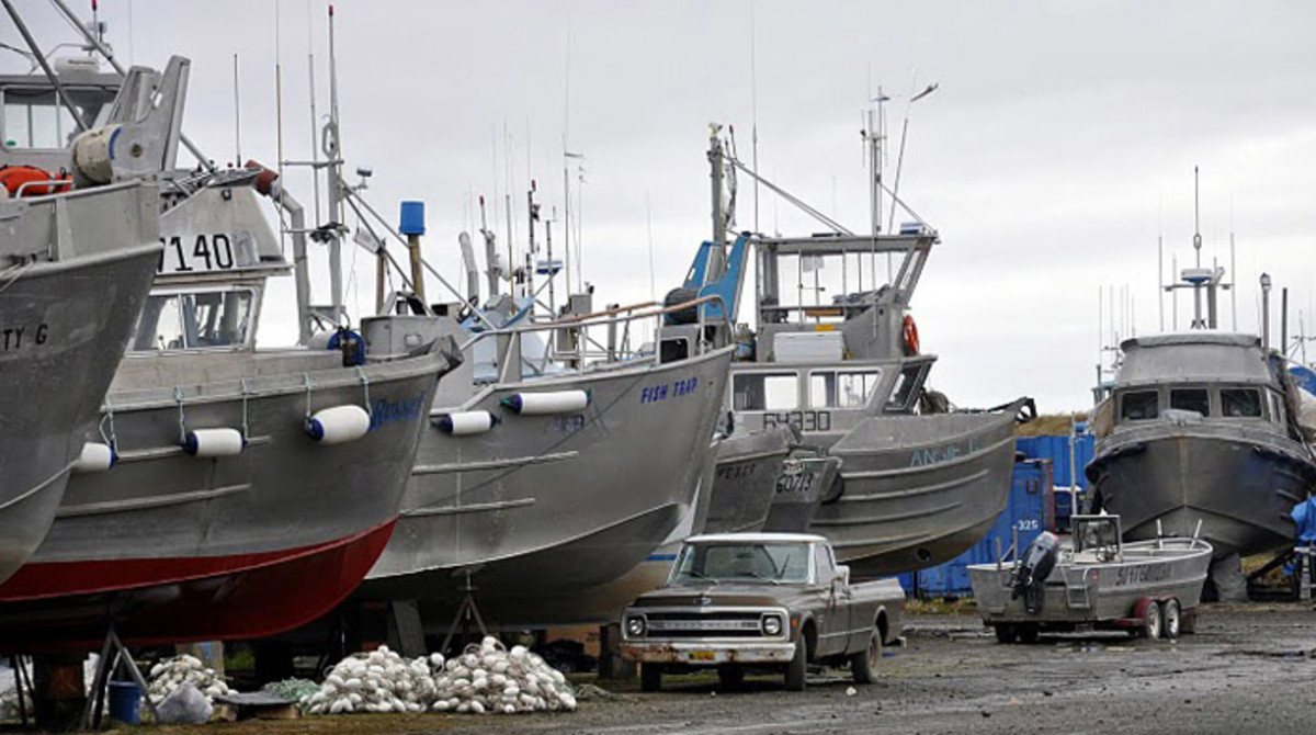 """""""Commercial fishing boats stand ready."""""""