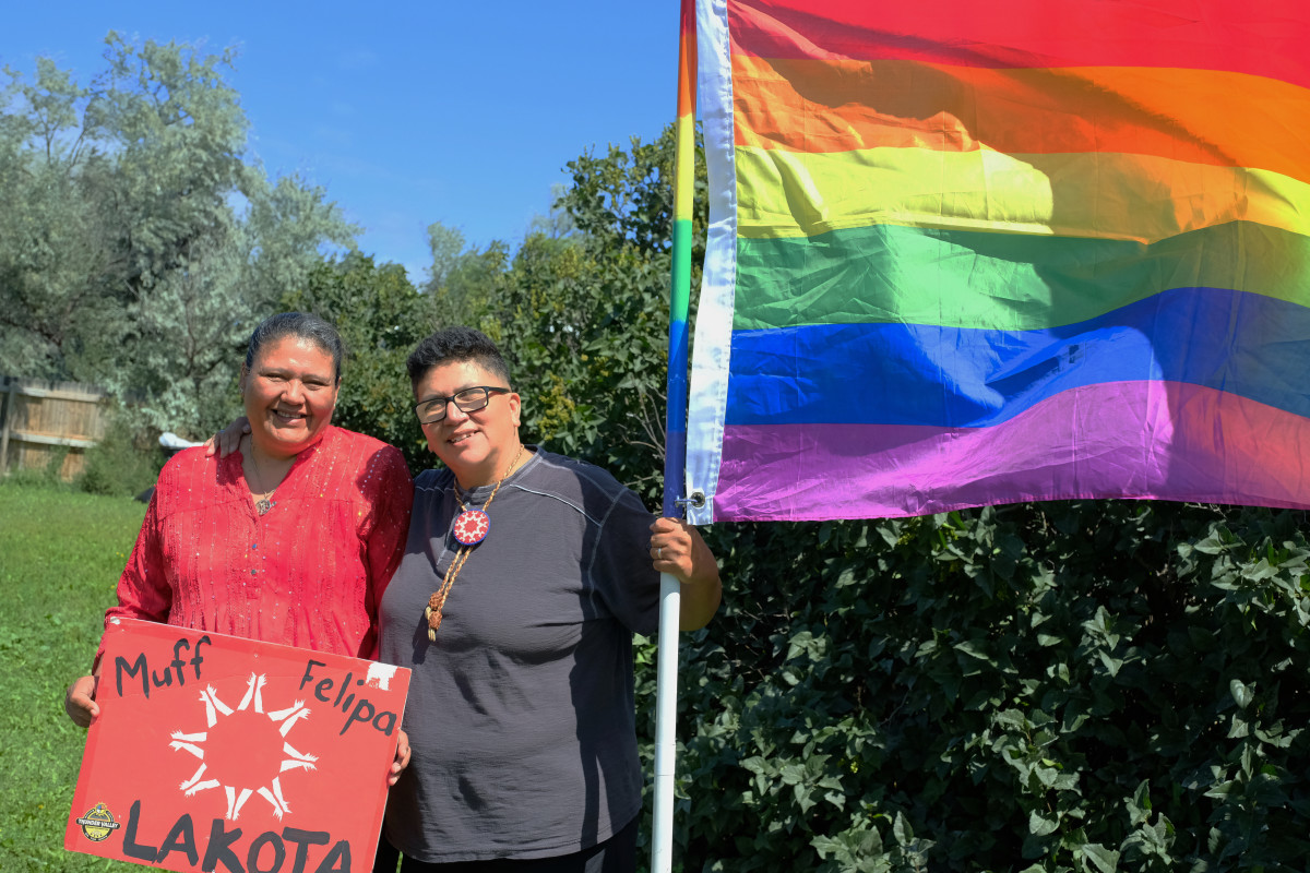 """Monique """"Muffie"""" Mousseau and Felipa DeLeon, both citizens of the Oglala Sioux Tribe helped forward the effort to change their tribe's marriage law. Courtesy image"""