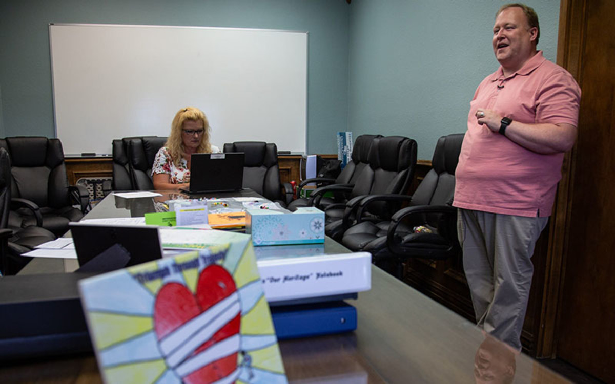 Steven McCullough and Debbie Fitzgerald are mental health professionals who conducted a community mental health program called Healing Joplin. Team members went door-to-door to talk with tornado survivors.