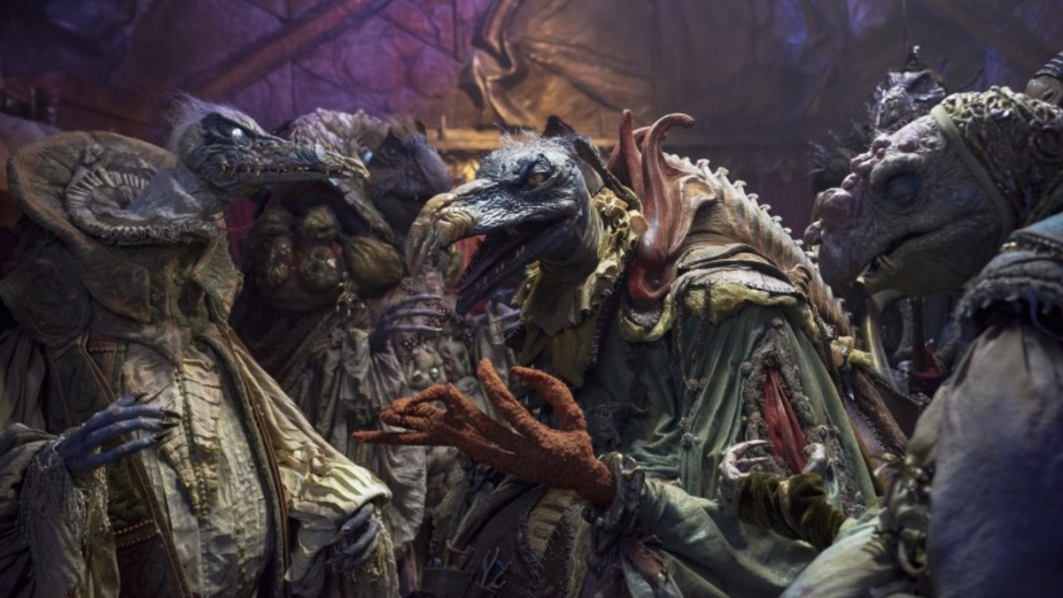 The Skeksis discuss their next move in the Emperor's chambers. Photo: Netflix
