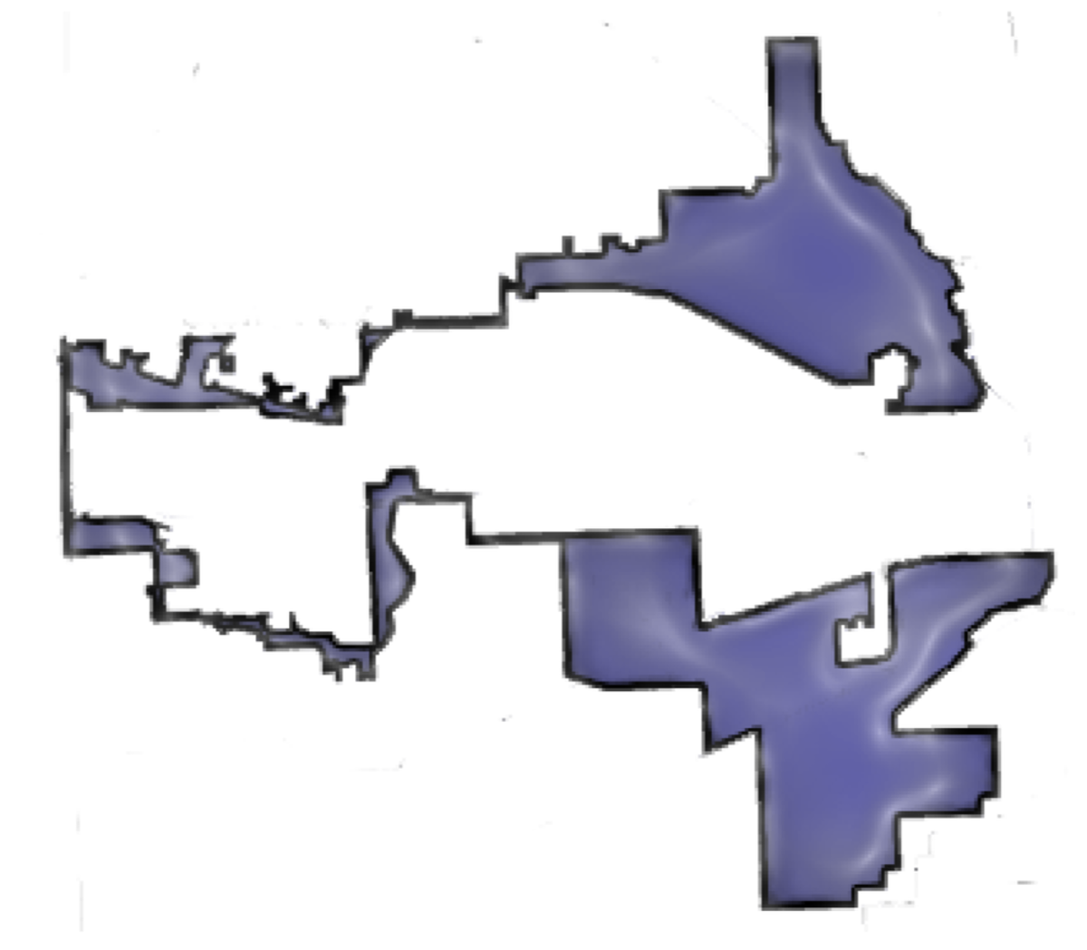 Electoral Gerrymandering graphic. Electoral gerrymandering often leads to congressional districts with strange and elaborate shapes. In the case Illinois District 4, shown here as drawn in 2004, the shape resembles a pair of earmuffs.