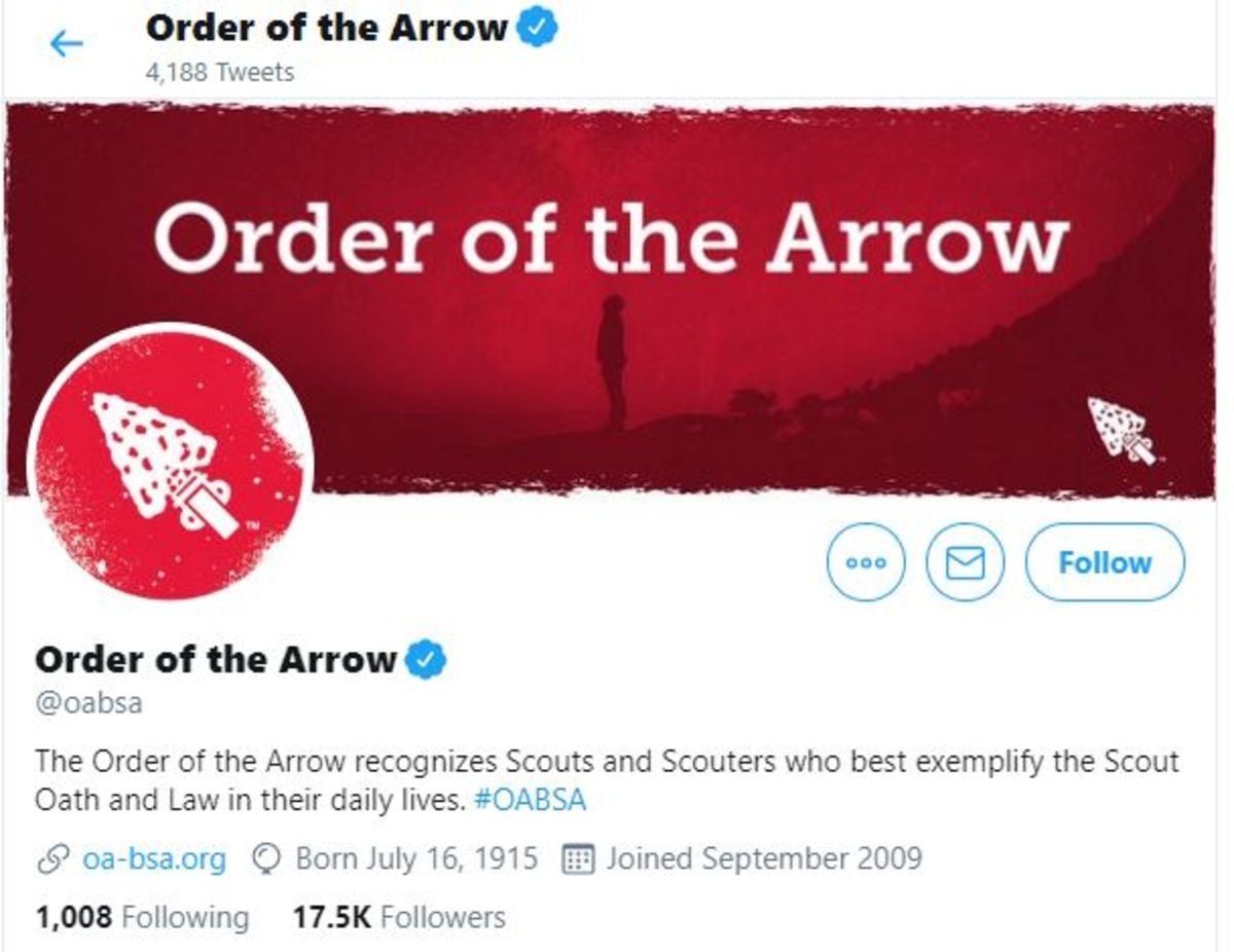 Order of the Arrow Twitter