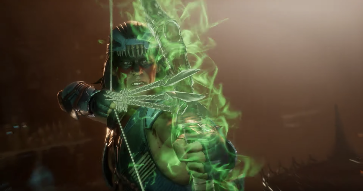 Nightwolf in promotional material for Mortal Kombat/ Electronic Arts