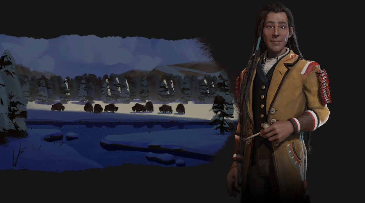 Cree leader Chief Poundmaker, portrayed in Civilization VI by Firaxis / 2K Games was sharply criticized by Cree elder Milton Tootoosis - screen capture