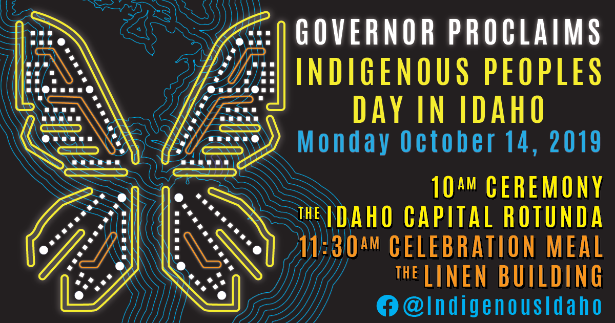 Indigenous Peoples Day In Idaho flyer
