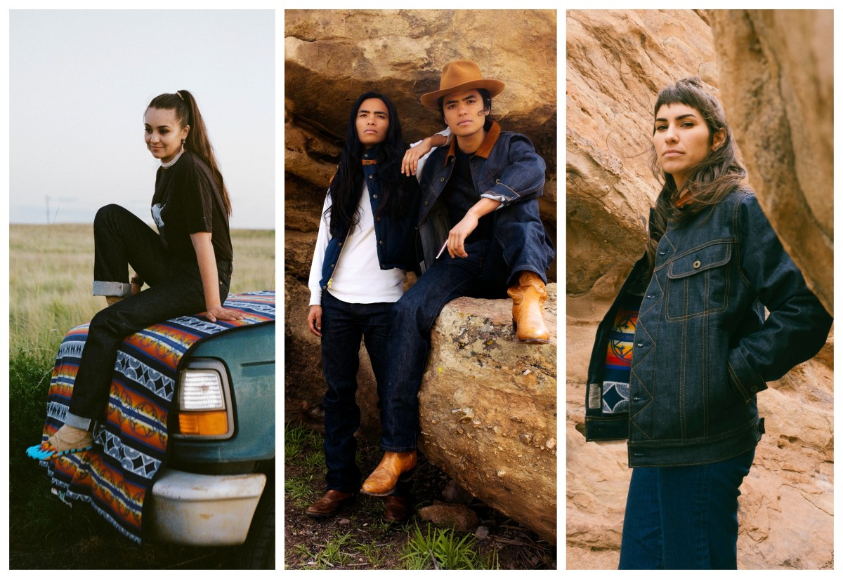 Ginew offers authentic Pendleton blankets as well as denim designs with a Native influence.