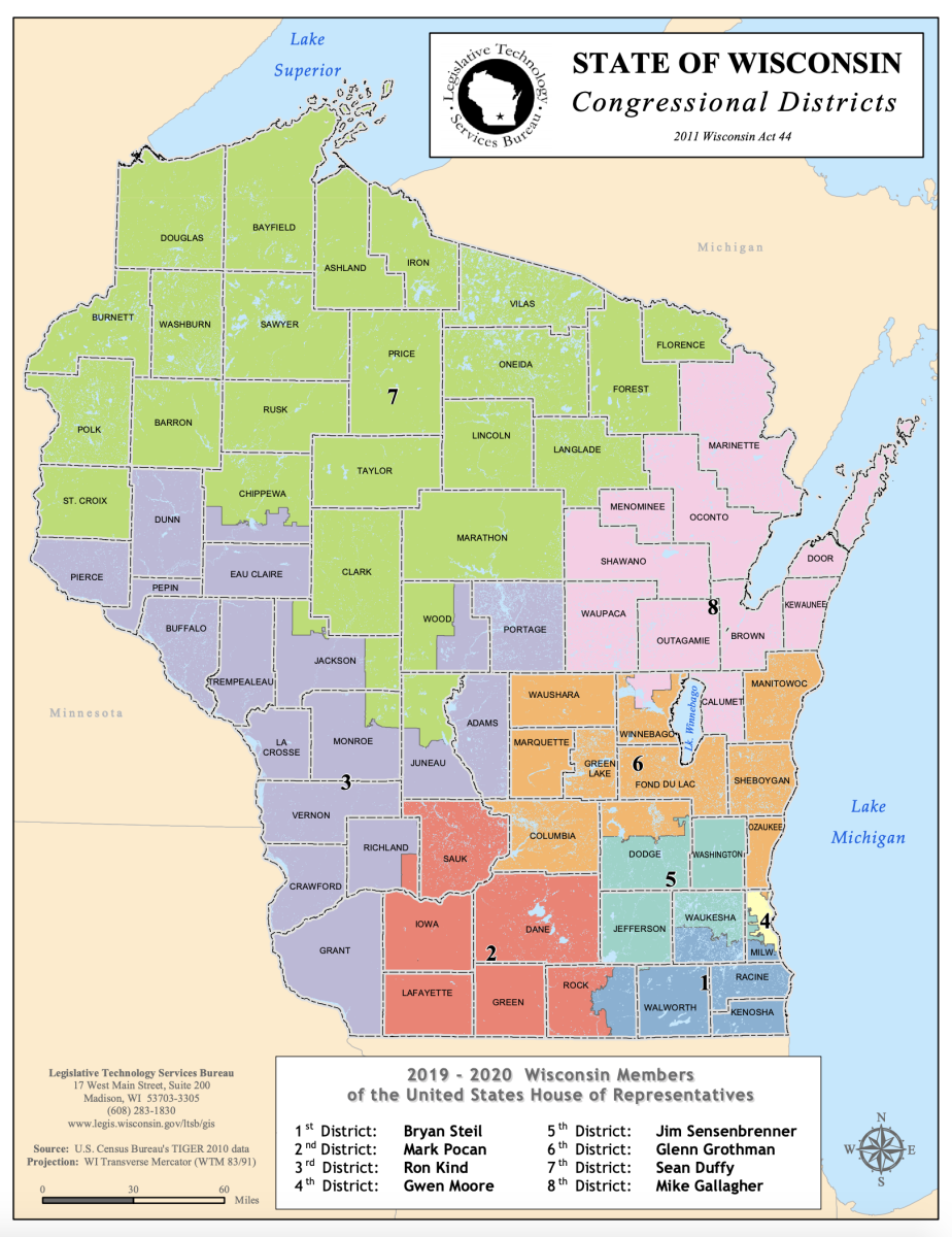 Wisconsin Congressional Districts 2019