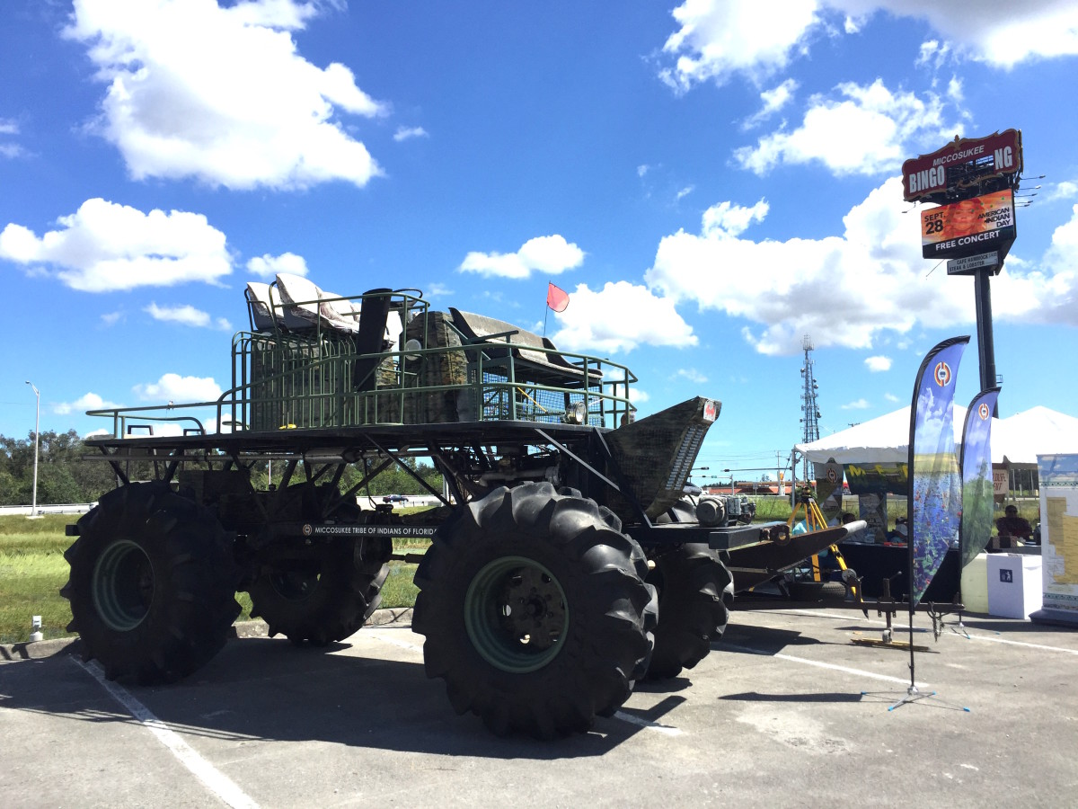 Swamp buggy and Airboat at Miccosukee Indian Day