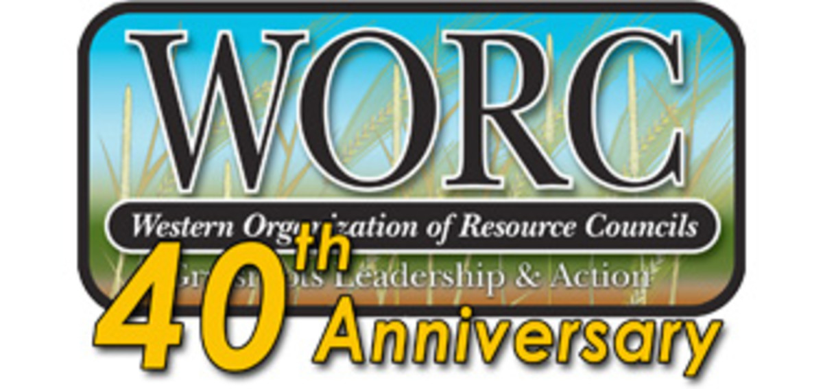 Western Organizations of Resource Councils 40th Anniversary logo