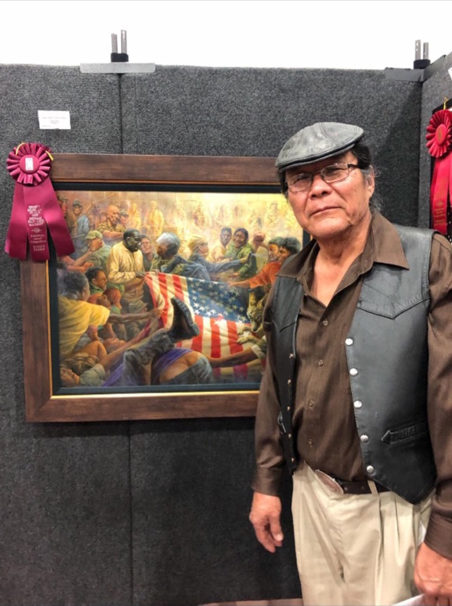 James King by winning painting