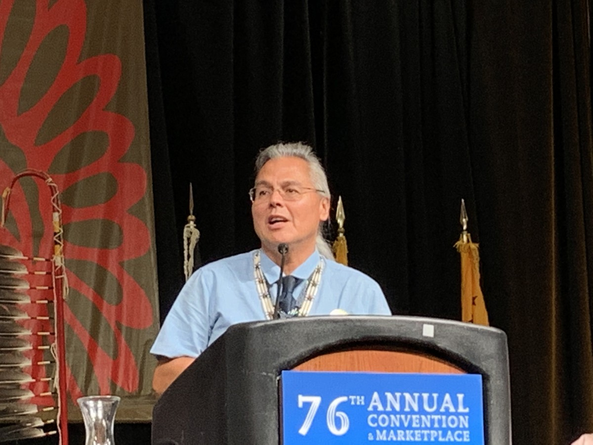 Aaron Payment will serve as the first vice-president of NCAI (Photo by Aliyah Chavez)