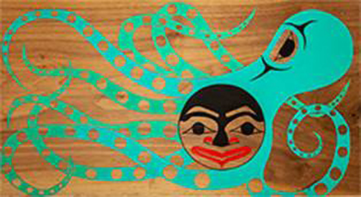 """Pictured: """"Octopus"""" by Haleigh Ebbighausen. First place, Juried Youth Art Exhibit, high school division, 2018."""
