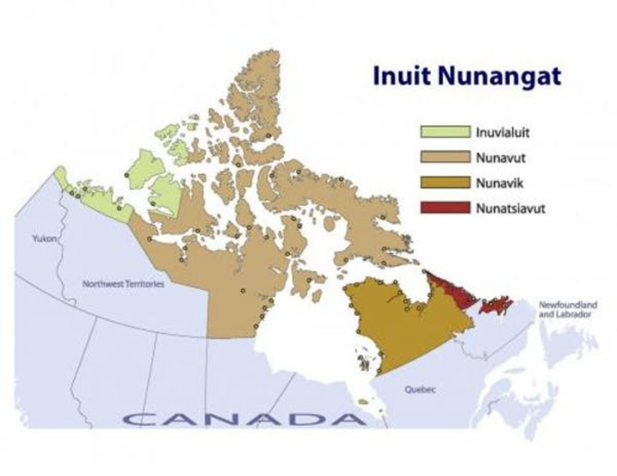 Pictured: A map of Inuit Nunangat (Inuit Regions of Canada)