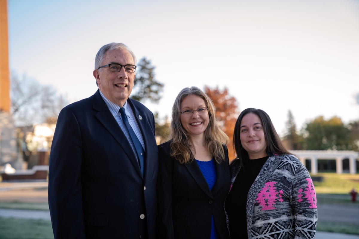 (left to right: Barry Dunn, Shana Harming, Erica Moore; Wokini Initiative of South Dakota State University. Photo courtesy Passenger Productions)