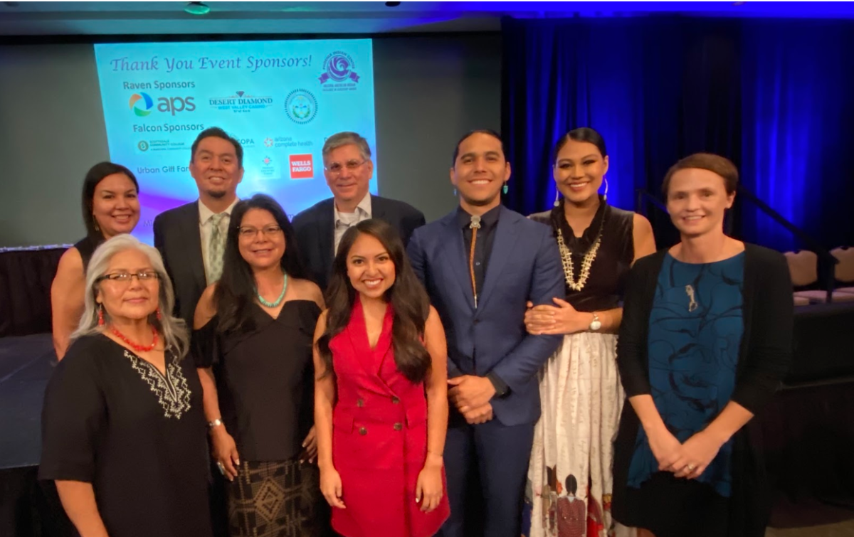 A few members of theIndian Country Today Team with guests at Arizona American Indian Excellence in Leadership Awards.