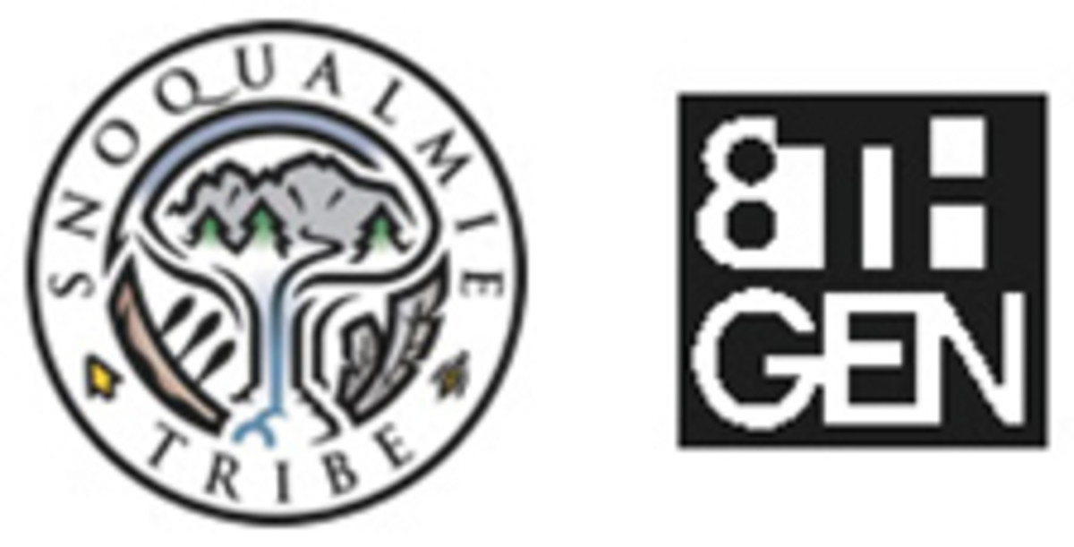 Snoqualmie Indian Tribe + Eighth Generation logos