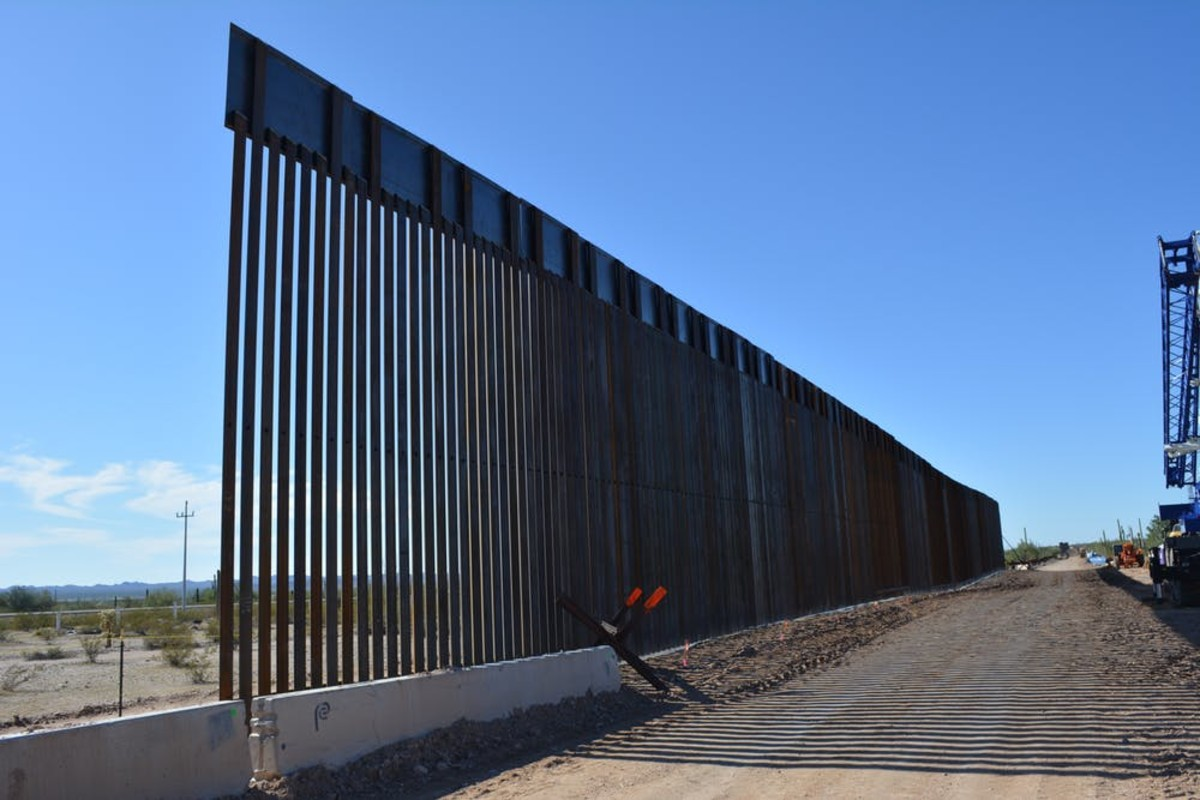 Pictured: Border wall construction in Organ Pipe Cactus National Monument, photographed in November 2019.
