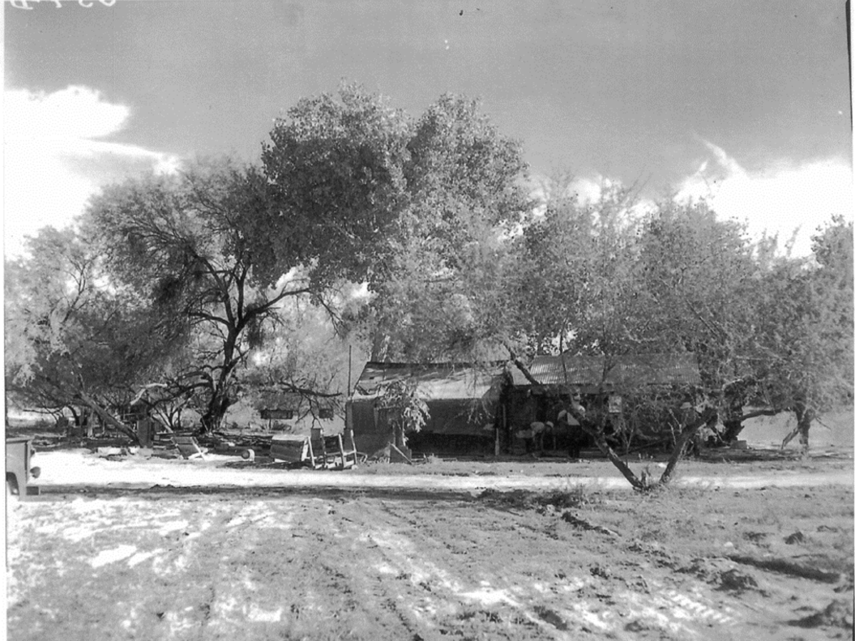Pictured: The Orozco homestead, which spanned the U.S.-Mexico border in what became Organ Pipe National Monument, was demolished by the National Park Service in the late 1950s.