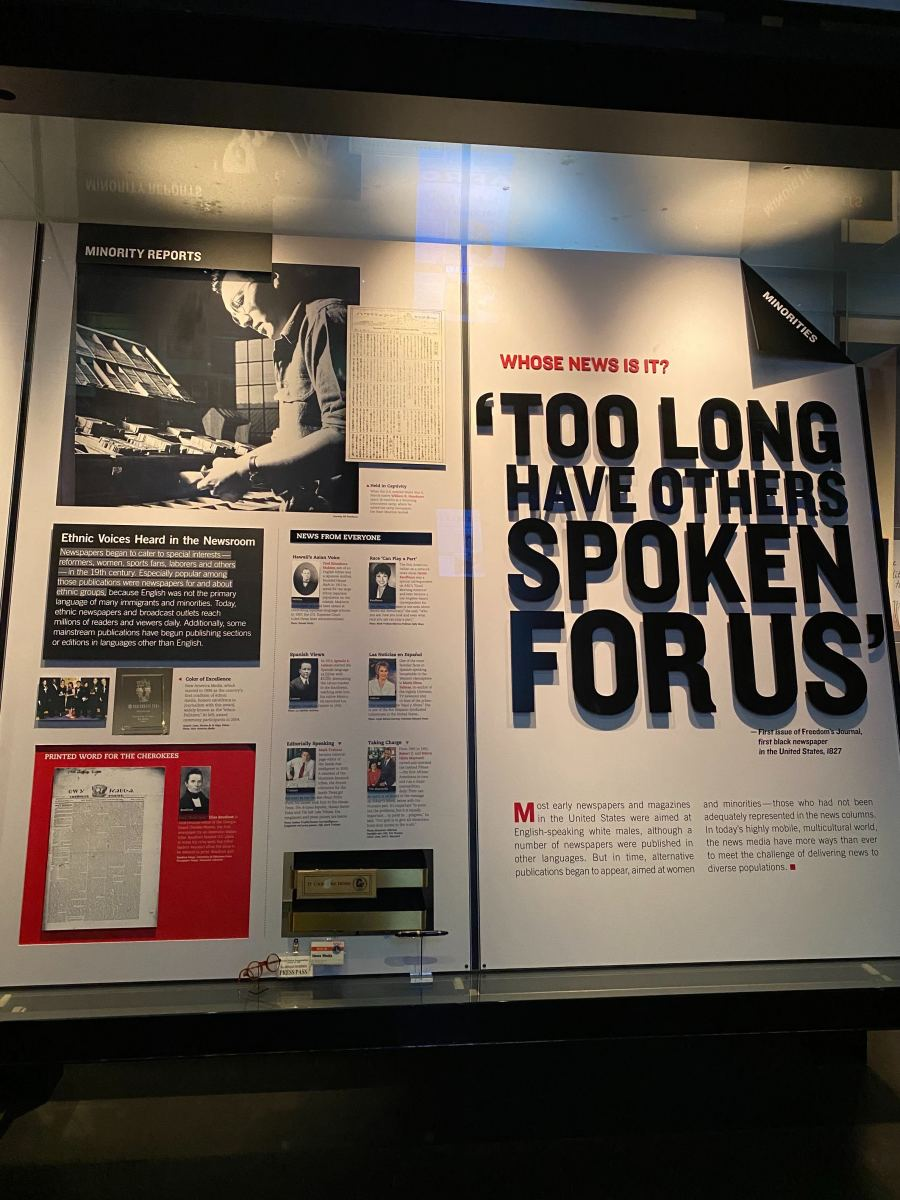 Inside the News History Gallery. (Indian Country Today photo)