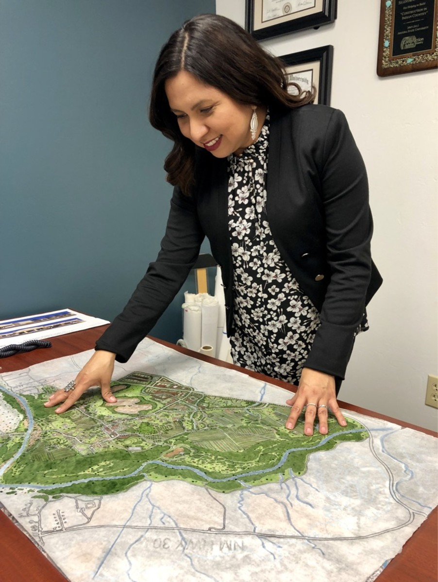 Kim Kanuho, Diné, is a planner and president of Fourth World Design Group LLC, a Native-owned community planning consulting firm based in Mesa, Arizona. Photo courtesy of Kim Kanuho.