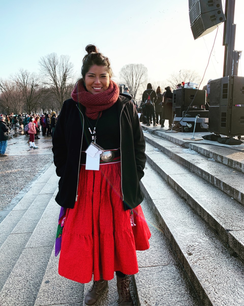 Jourdan BB at the Indigenous Peoples March in DC - Jan 2019