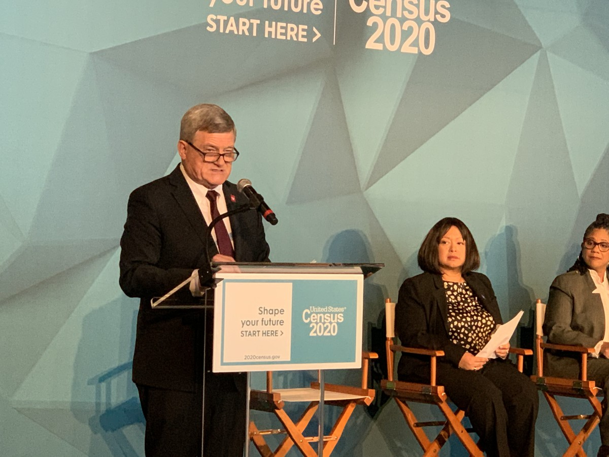 Census Bureau Director Steven Dillingham at the 2020 Census advertising and outreach campaign launch in Washington, D.C., on January, 14, 2020. (Photo by Jourdan Bennett-Begaye)