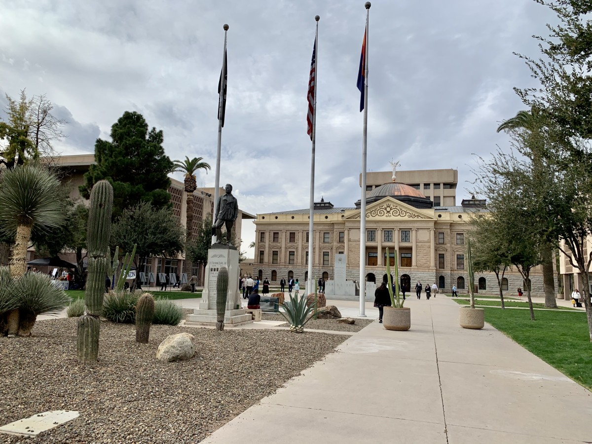 The Arizona State Capitol on the 25th annual Indian Nations and Tribes Legislative Day in Phoenix, Arizona. Photo by Aliyah Chavez.