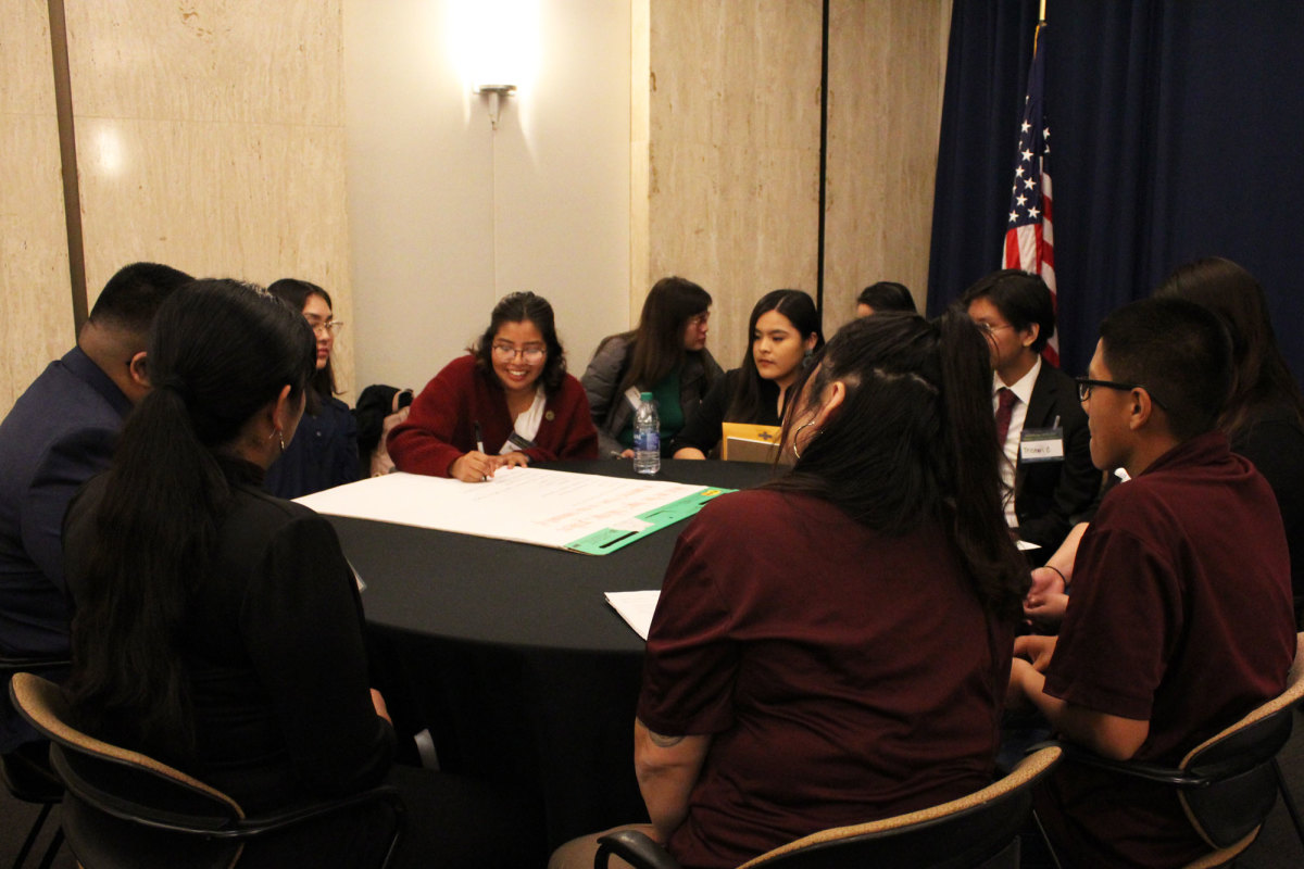 Native Youth Know youth forum discussed issues affecting their communities before presenting to tribal leaders and state representatives Wednesday afternoon. Photo by Quindrea Yazzie.