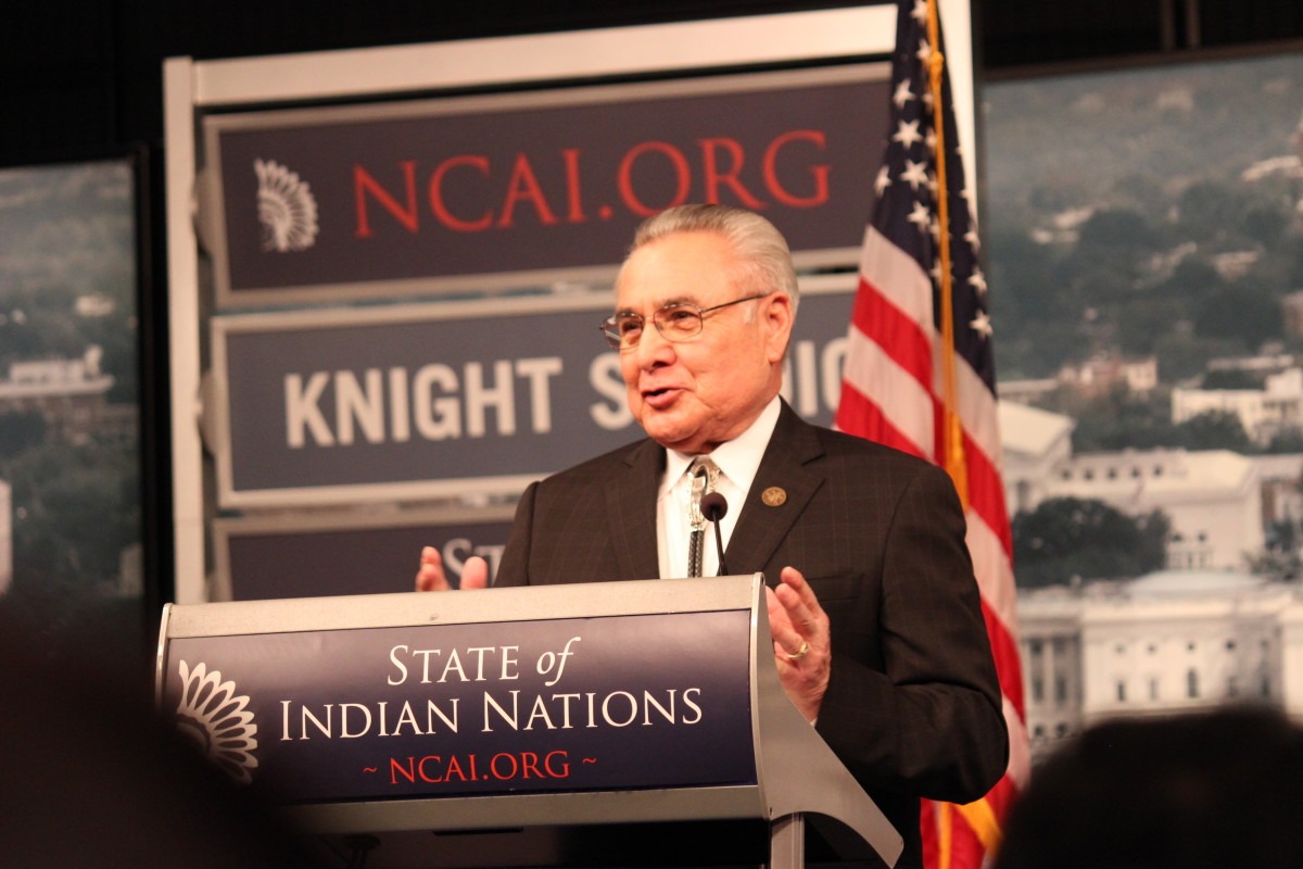 The National Congress of American Indians (NCAI) hosted it's 17th annual State of Indian Nations with NCAI President and Lt. Governor of the Chickasaw Nation Jefferson Keel delivering the State of Indian Nations address. (Photo: Vincent Schilling)