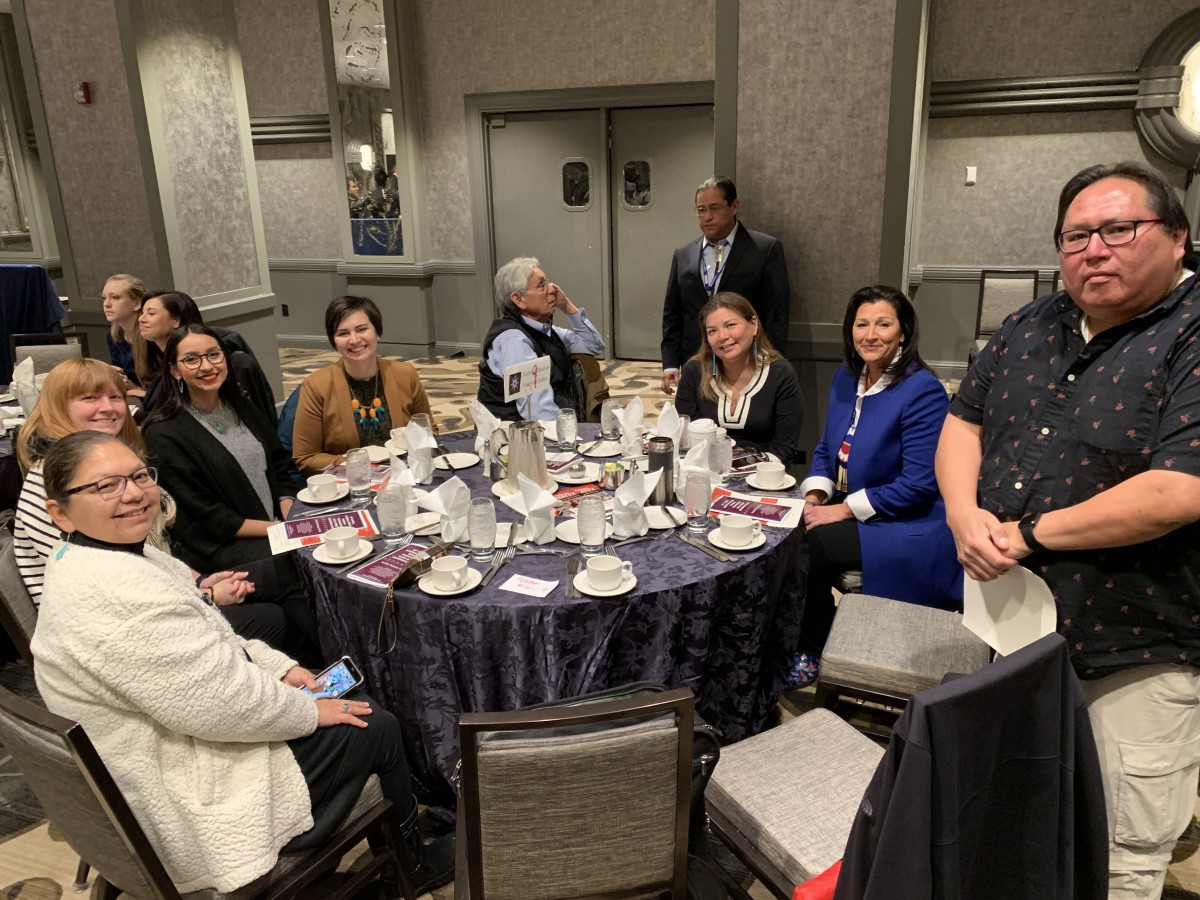 Luncheon attendees at table 9.