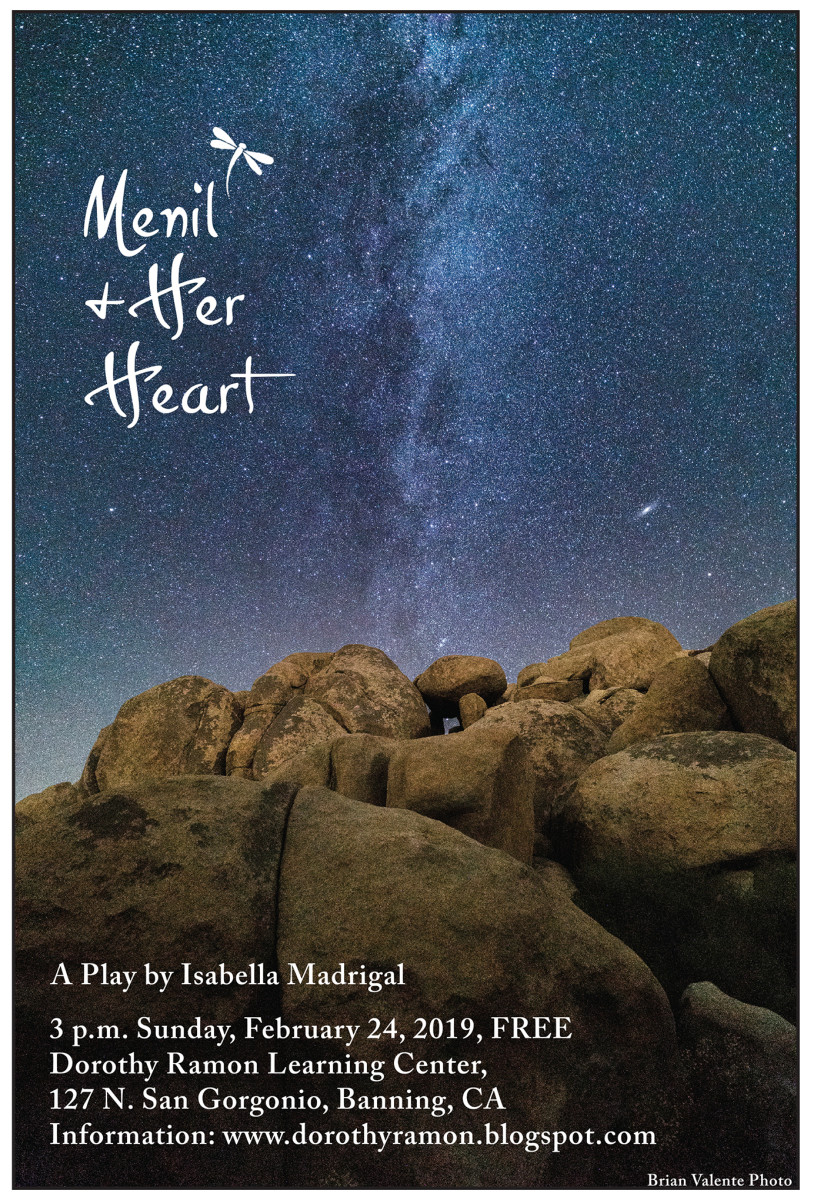 """16 year old Isabella Madrigal's play on Missing and Murdered Indigenous Women and Girls, """"Menil and Her Heart"""" is being performed this Sunday, February 24, in Banning, California. Admission is free."""