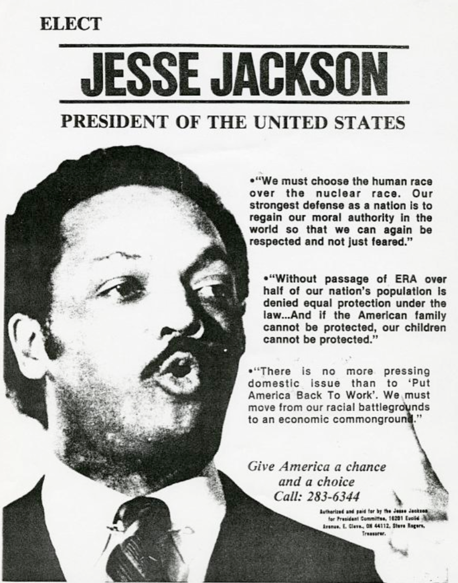 Campaign flyer. (National Museum of African American History and Culture)