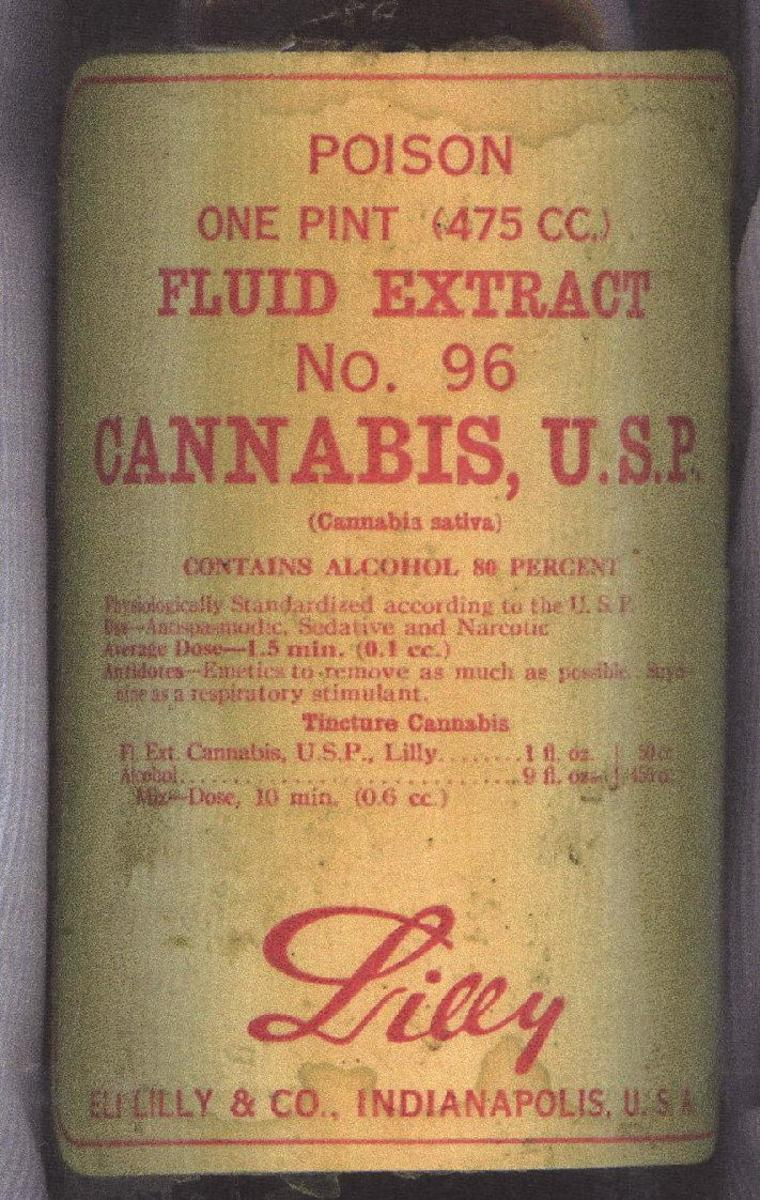 Medicinal use of cannabis is not new in the United States. Eli Lilly & Co. once sold a cannabis tincture for use as a sedative and to relieve muscle spasms. (Wikimedia Commons/Public domain)