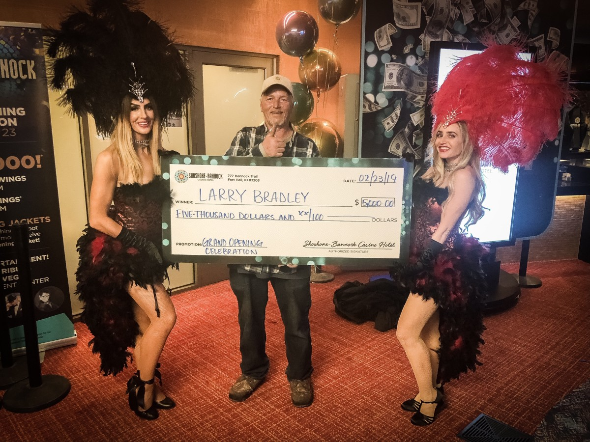 Larry B. from Soda Springs, Idaho, one of the Mega Spins giveaway winners.