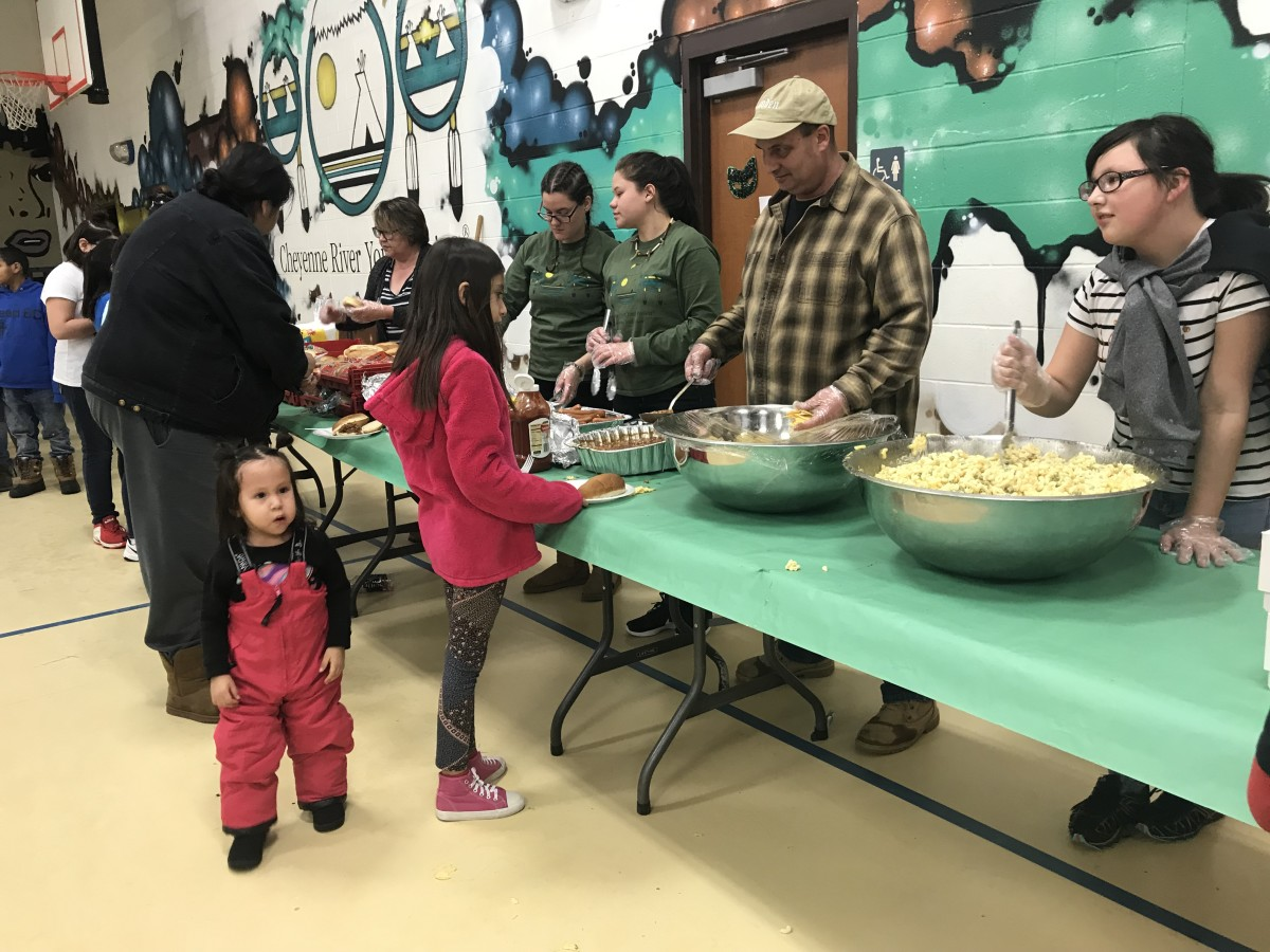 There was no shortage of tasty food at the Masquerade Ball & Community Dinner held at Cheyenne River Youth Project's Cokata Wiconi (Center of Life) on Friday, February 22.