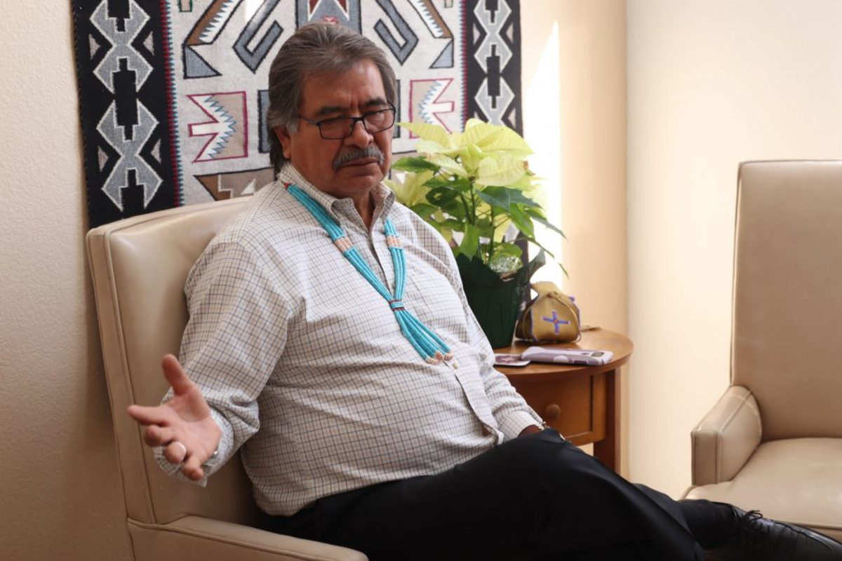 Former state Rep. Albert Hale says jurisdiction issues exacerbate the problem of missing and murdered indigenous women. (Photo by Kelsey Mo/Cronkite News)