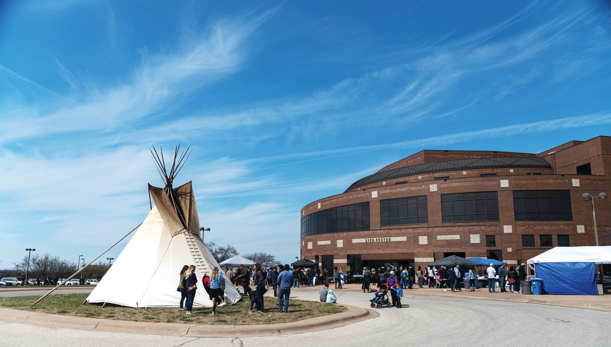 The First Nations Student Association Tipi unveiling takes place 11 a.m. April 6 at the Lied Center of Kansas.