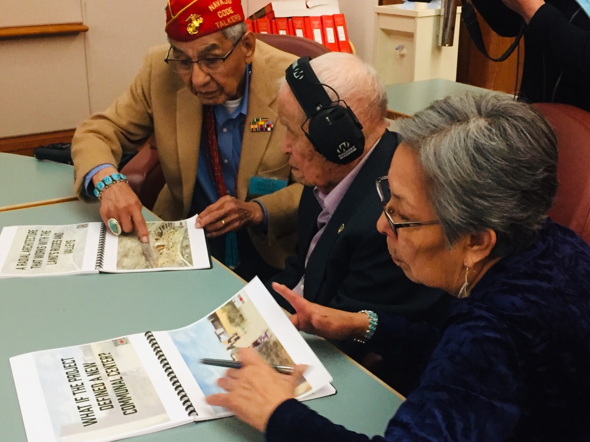 Sen Pinto and a fellow Nava Code Talker and others in New Mexico. (Photo: Charmaine Jackson)
