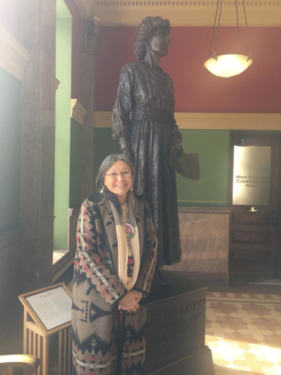Janine Pease, a citizen of the Crow Tribe, became a lead plaintiff in the Windy Boy v. Big Horn County lawsuit.