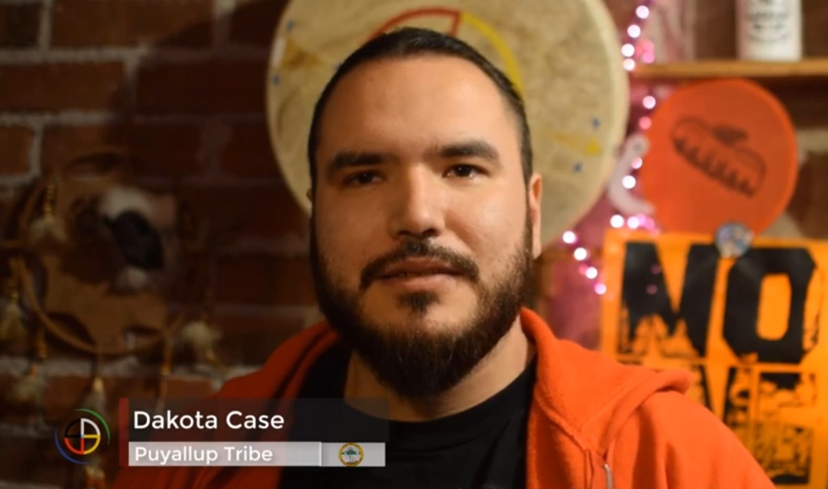 Dakota Case, Puyallup, relates the story of his arrest in the documentary 'Ancestral Waters' produced by Darren and Benita Moore of Native Daily Network. (Screen capture)