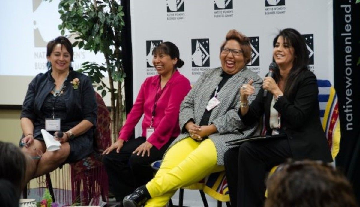 Pictured: a panel from the 2018 Native Women's Business Summit