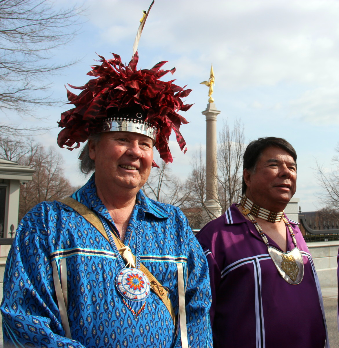 G. Peter Jemison, Seneca and Ray Halbritter, Oneida, in Washington DC to honor the 222nd Annual Canandaigua Treaty Ceremony. (Photo Vincent Schilling)